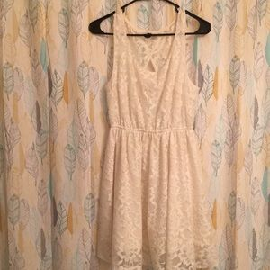 Off white lace summer dress